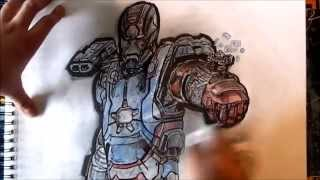 Speed Drawing : Iron patriot-