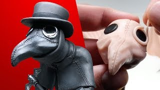 Making a PLAGUE DOCTOR! Sculpting Subscribers Requests No. 9 - Sculpture Process with Polymer Clay