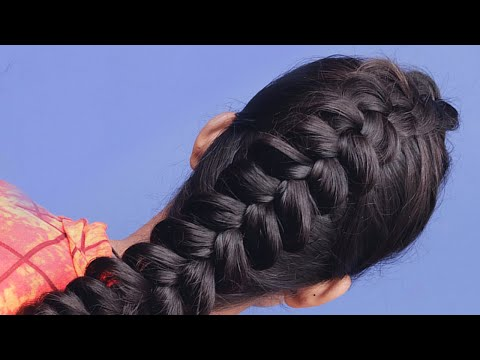 party-wear-hairstyles-for-long-hair- -fish-tail-hairstyles-for-girls- -simple-hairstyles-for-party