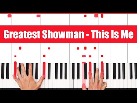 This Is Me The Greatest Showman Piano Tutorial - INSTRUMENTAL