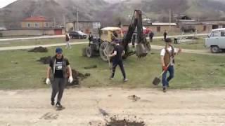 Жители села Кабир Курахского района приступили к закладке нового парка