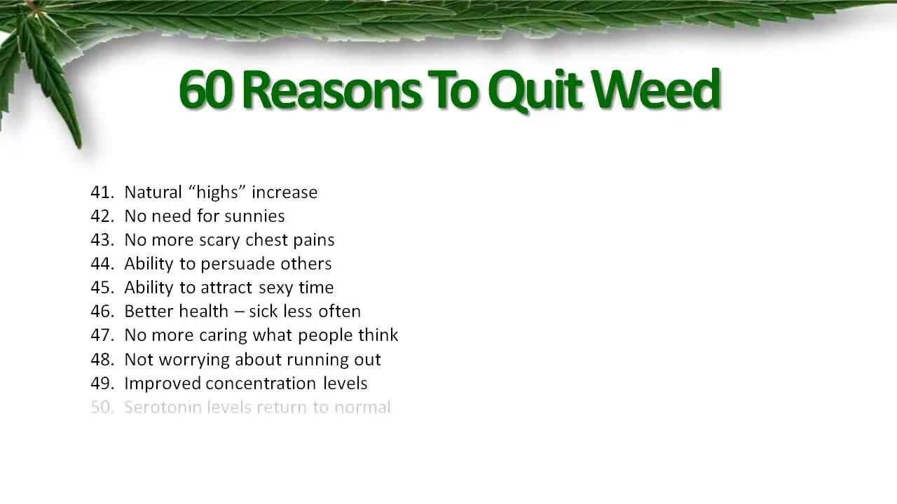 benefits of quitting weed gezondheid en goede voeding