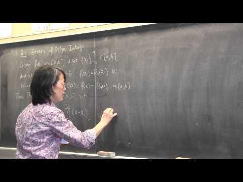 CMPSC/Math 451--Jan 28, 2015. Nested form. Error Theorem for polynomial interpolation. Wen Shen