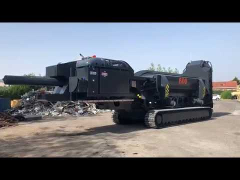 600T shear/baler on tracks on its way to work