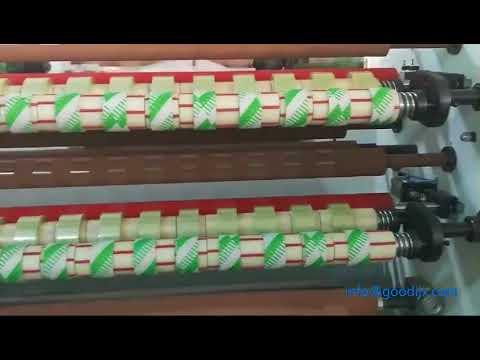 Super Clear Opp Gum Tape Rewinding and Cutting Machine ...