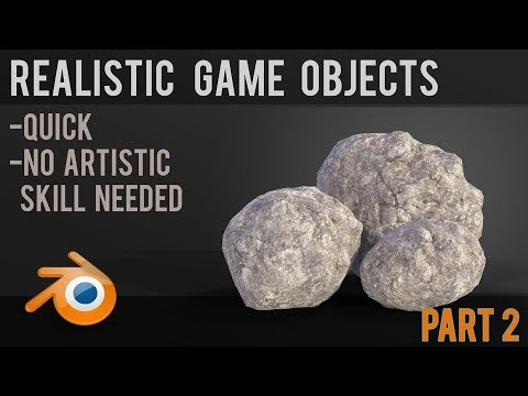Realistic Low Poly Game Assets - Rocks - Part 2