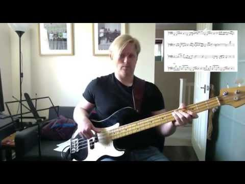 Michael Jackson Girlfriend Bass/Playthrough Lesson w/transcription
