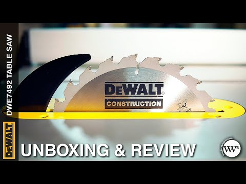 DEWALT DWE7492 Table Saw Unboxing and Review