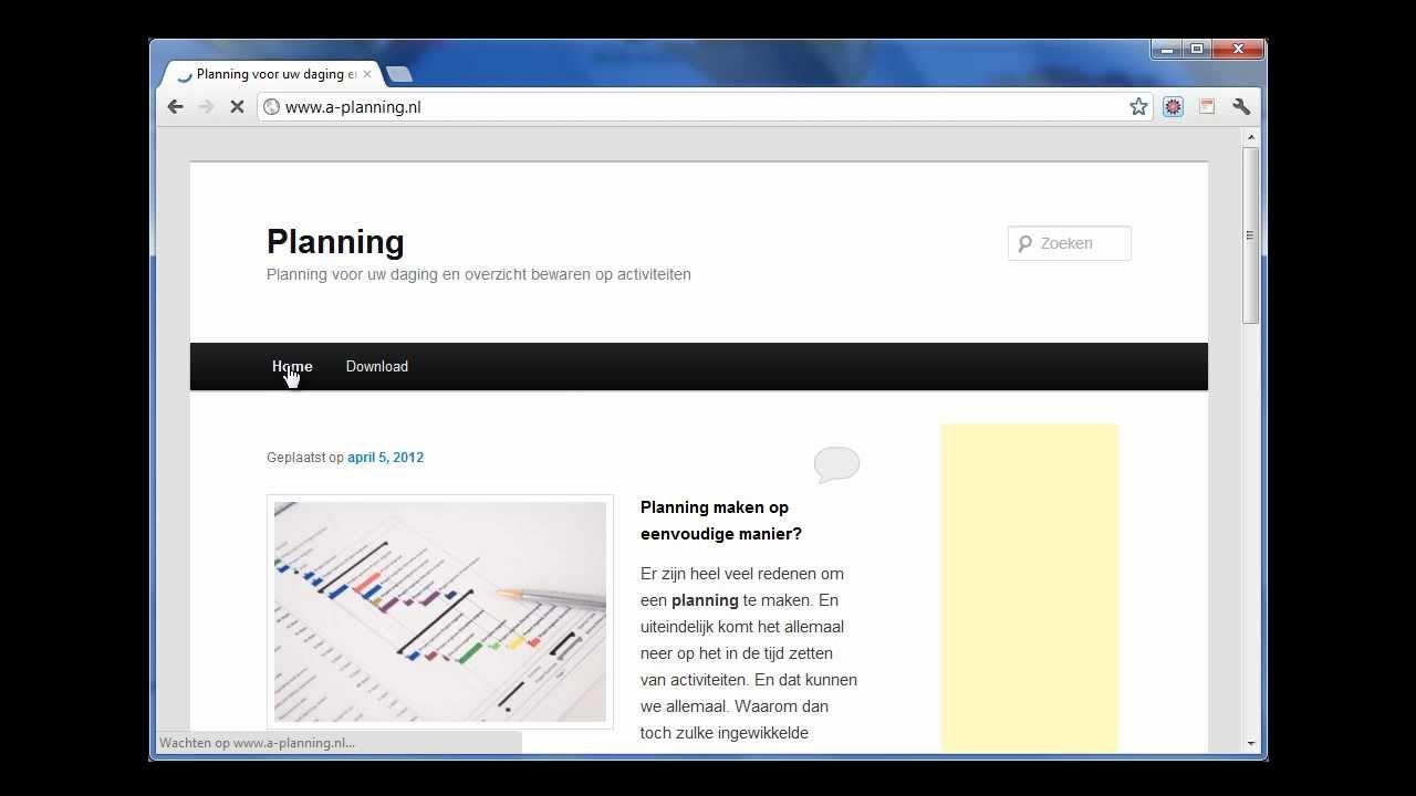 Planning maken met excel youtube for Planning maken
