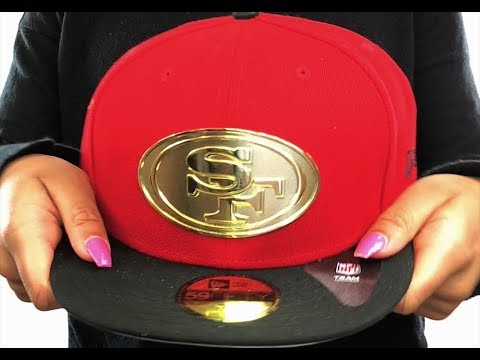 e74fedf26 49ers 'GOLDEN-BADGE' Red-Black Fitted Hat by New Era - YouTube