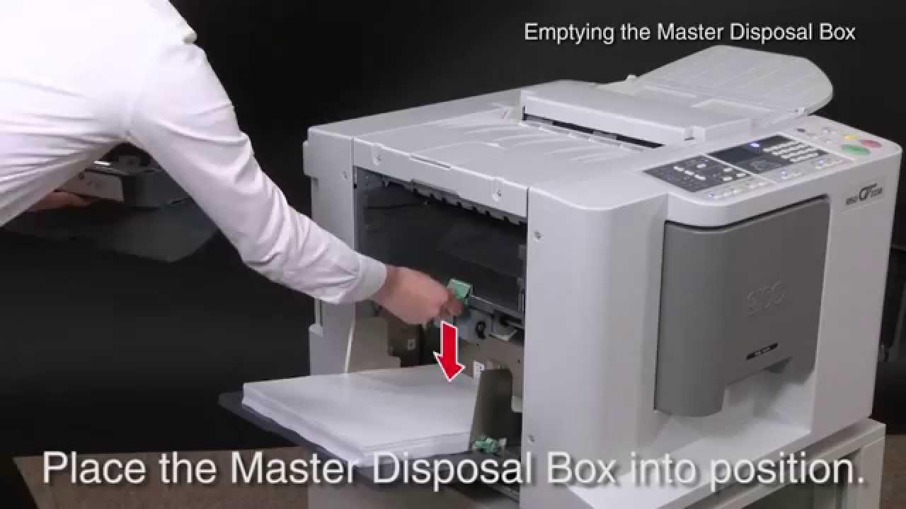 riso cv instruction of emptying the master disposal box riso rh youtube com Riso HC5500 Sensor Riso HC5500 Review