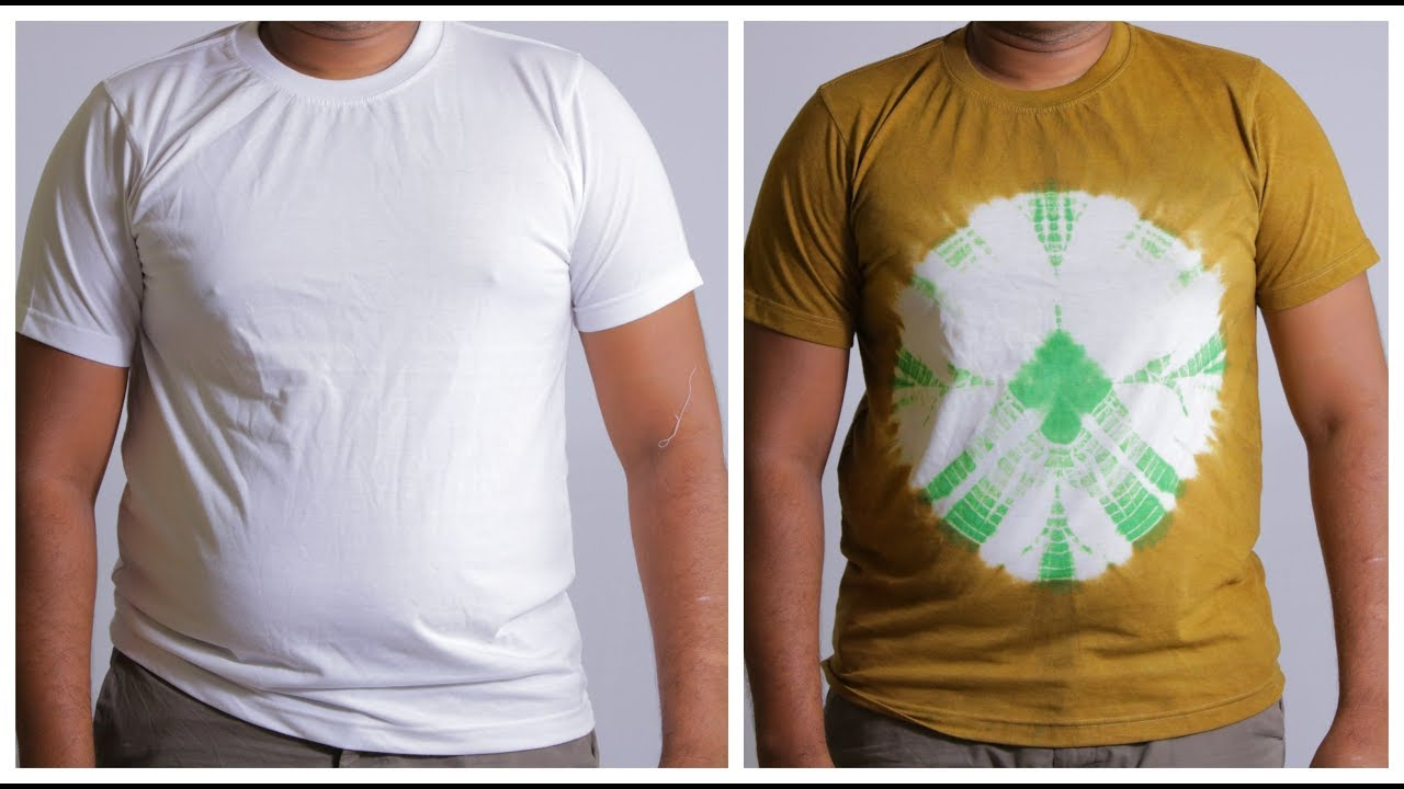 Diy white t shirt tie dye how to dye t shirt at home - How to design your own shirt at home ...