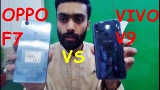 Oppo F7 Silver vs Vivo V9 Pearl Black | Speed Test | Gaming Test | Box Open