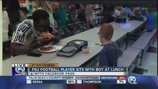 Florida State's <b>Travis Rudolph</b> eats lunch with boy with autism ...