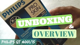 Phlips Beard Trimmer QT4001/15 Unboxing and Overview