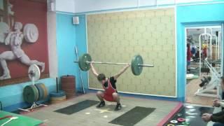 Новосёлов Дима, 15 лет, вк 50 Рывок 40 кг