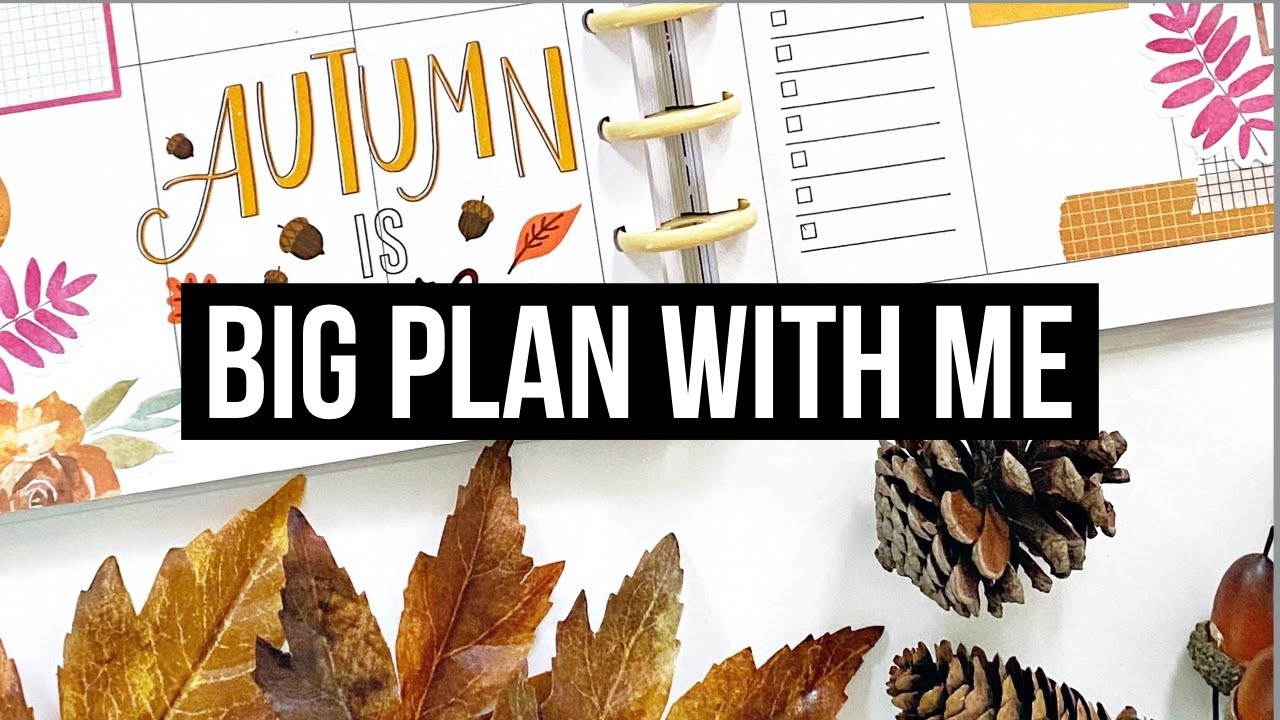 Plan With Me // Big Happy Planner // First Week of Fall Spread! // September 2020