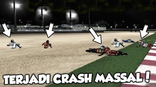 GARA² KILAT..!!! RIDER BANYAK YANG CRASH #QatarGP #Losail - MOTOGP 08 [PC] PART 1