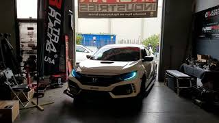 For HONDA CIVIC EK8 TYPE-R 2018-2019 ULTRA RACING 2 POINTS FRONT LOWER STEEL BAR