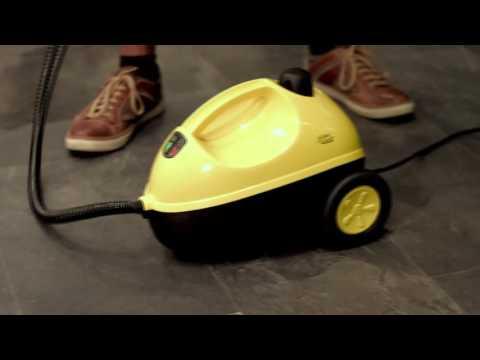 Sichler Haushaltsgeräte 2in1-Dampfbesen DB-250 mit Dreieck-Fuß & Teppich-Gleitaufsatz, 1.300 W