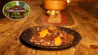 Self Reliance Food   Moroccan Goat   Cast Iron Cooking