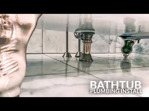 installing-bathtub-plumbing-vintage-clawfoot-tub-faucet-and-hand-shower
