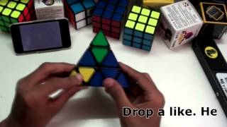 qj pyraminx unboxing and review