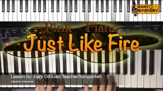 P!nk - Just Like Fire Song Cover Easy Piano Tutorial/Keyboard Lesson FREE Sheet Music NEW 2016