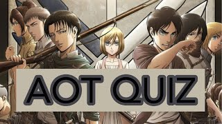 Attack on Titan Quiz Easy-Hard // How well do you know AOT ?