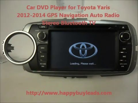 toyota yaris car audio system dvd gps navigation bluetooth. Black Bedroom Furniture Sets. Home Design Ideas