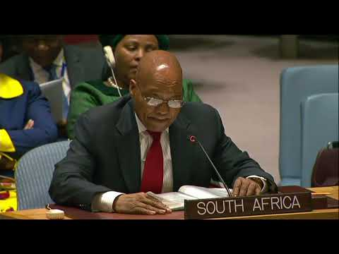 President Zuma addresses the UNSC on Peacekeeping reforms
