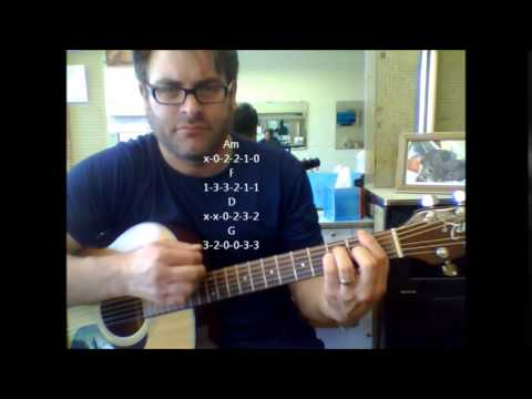 "How to play ""Rock Me Amadeus"" by Falco on acoustic guitar"