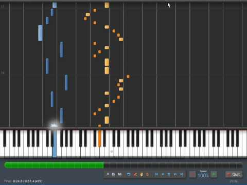 Nyan Cat on Synthesia [sheet music] [pitch-perfect] (Nyanyanyanyanyanyanya!)