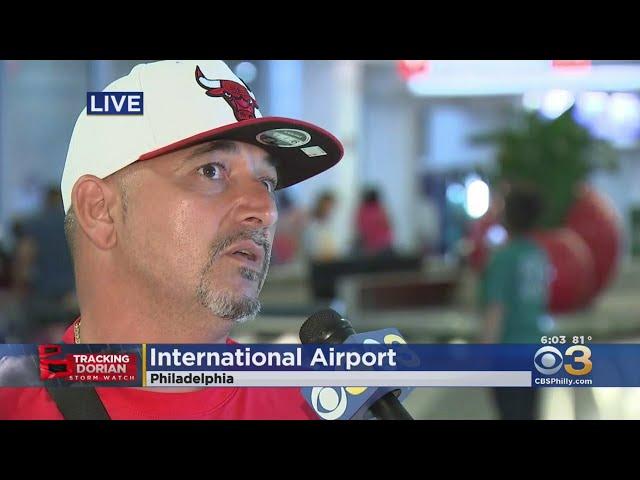 Travelers Escaping Hurricane Dorian Arriving At Philadelphia