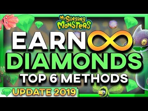 HOW TO EARN FREE DIAMONDS TOP 6 SECRET METHODS [2019] [NO HACK] [NO JAILBREAK] | My Singing Monsters