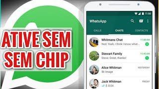 Novo! Como ativar o WhatsApp sem chip 2019 - Código de verificação do WhatsApp 2019