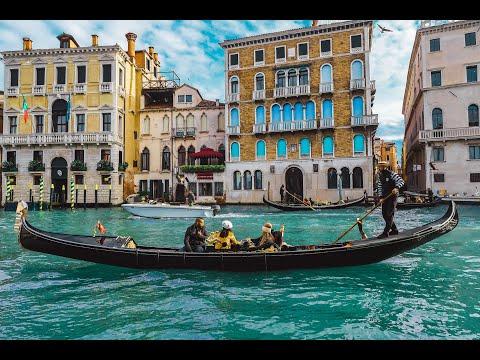 4K Beautiful Venice Italy,  Best Italian Music,  Instrumental  Romantic , Relaxing Music