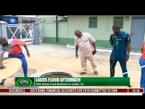 Lagos Flood Causes DPR To Seal Fuel Stations In Lekki