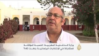 43% نسبة المشاركين في الانتخابات النيابية المغربية