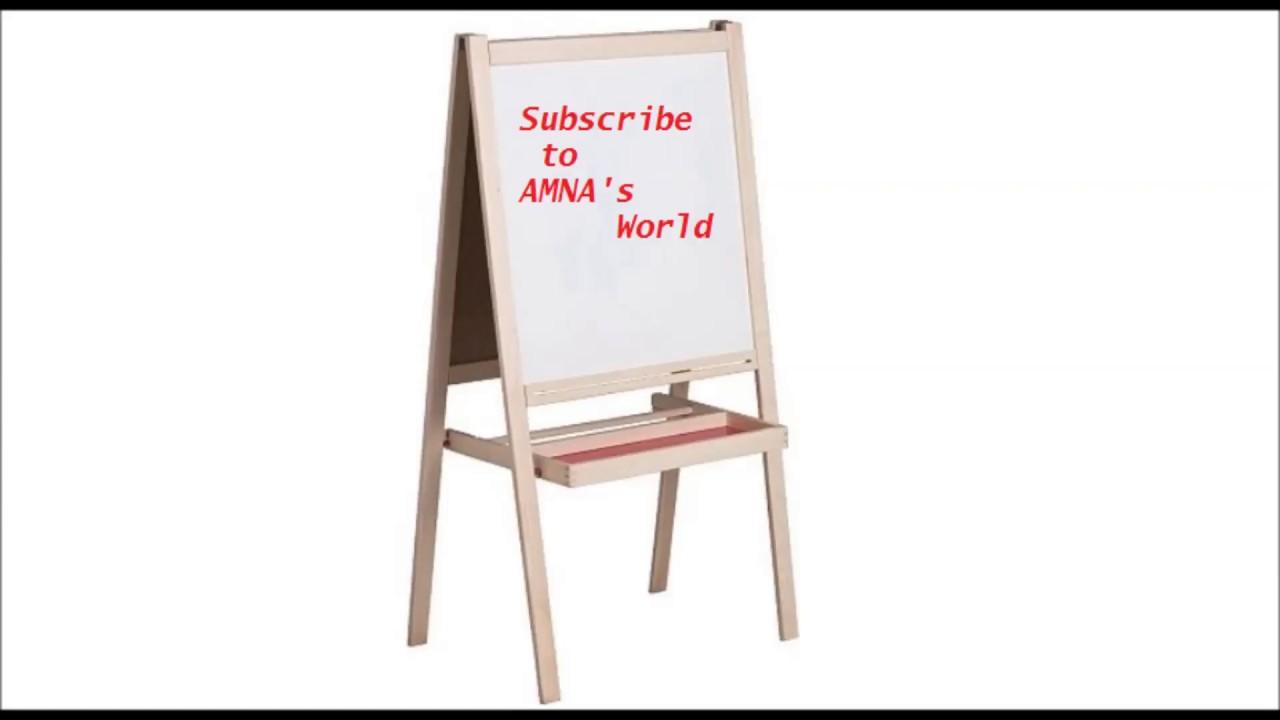How To Assemble A Whiteboard Ikea Måla Easel Amnas World Youtube