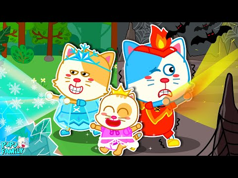 Hot vs Cold Challenge – The Journey Of Baby with Ice & Fire   Pupu Kids Stories Baby   Pupu Family