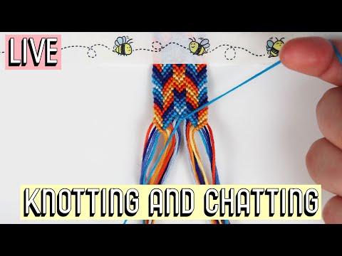 STAGGERED CHEVRON KNOTTING || Masha Knots Live