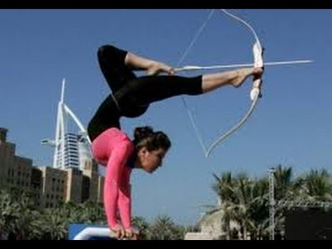 IT'S AMAZING A Girl Do Bow and Arrow Shot with Feet