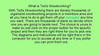 Ted's Woodworking Package- Review Of Ted's Woodworking Plans And Woodworking Projects