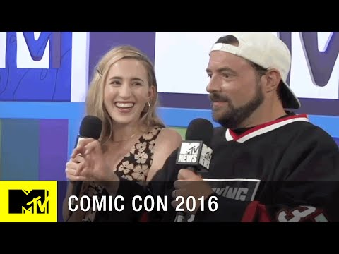 Kevin Smith & Harley Quinn Smith Chat About Yoga Hosers  Comic Con 2016  MTV