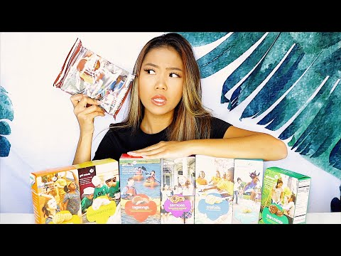 Girl Scout Cookies Mukbang (FIRST TIME TRYING OUT GIRL SCOUT COOKIES)