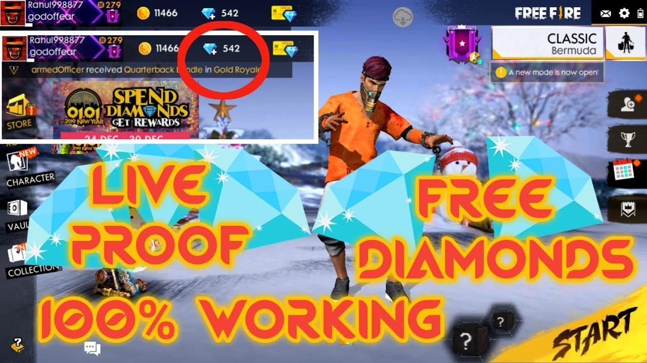 FREE DIAMONDS IN FREE FIRE   LIVE PROOF   100% WORKING METHOD [Hindi] EP-1