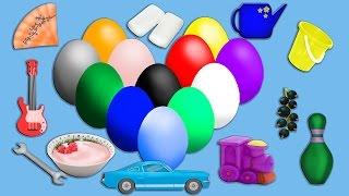 Изучение цвета, яйцо с сюрпризом! Развивающие мультики для детей