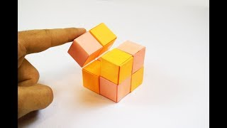 How to make a paper Infinity Cube?