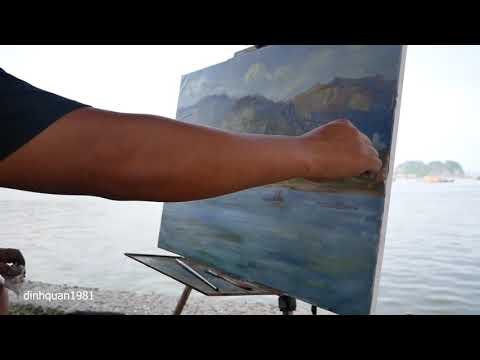 dinhquan1981 | Plein Air TIMELAPSE Oil Painting Landscape Demonstration Deo Nai – Daily Painting #1